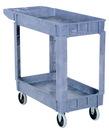 Vestil PLSC-2-1731 plastic utility cart 2 shelves 17.5 x 31