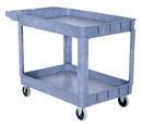 Vestil PLSC-2-2436 plastic utility cart 2 shelves 24.5 x 36