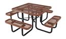 Vestil PT-MX-ST-46-BN picnic table exp metal square top 4646 brown