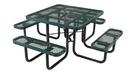 Vestil PT-MX-ST-46-GN picnic table exp metal square top 4646 green