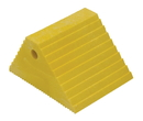 Vestil PWC-DS-YL plastic dual slope wheel chock yellow