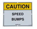 Vestil SBS-1012 reflective speed bump sign 11.75 x 9.75