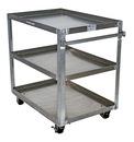 Vestil SCA3-2840 alum service cart w/ three 28x40 shelves