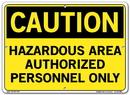 Vestil  SI-C-45-C-AL-040 sign-caution-45 14.5x10.5 aluminum .040