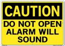 Vestil  SI-C-60-E-AL-040 sign-caution-60 20.5x14.5 aluminum .040