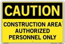 Vestil  SI-C-65-D-AL-040 sign-caution-65 18.5x12.5 aluminum .040