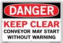 Vestil  SI-D-11-D-AL-040 sign-danger-11 18.5x12.5 aluminum .040