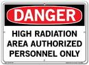 Vestil  SI-D-25-C-AL-080 sign-danger-25 14.5x10.5 aluminum .080
