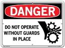 Vestil  SI-D-28-C-AL-080 sign-danger-28 14.5x10.5 aluminum .080