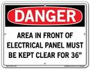 Vestil  SI-D-48-B-AL-040 sign-danger -48 12.5x9.5 aluminum .040
