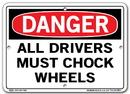Vestil  SI-D-51-A-AL-040 sign-danger -51 10.5x7.5 aluminum .040