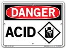 Vestil  SI-D-67-A-AL-040 sign-danger -67 10.5x7.5 aluminum .040