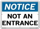 Vestil  SI-N-04-C-AL-040 sign-notice-04 14.5x10.5 aluminum .040