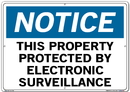 Vestil SI-N-35-E-AL-063 sign-notice-35 20.5x14.5 aluminum .063