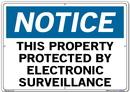 Vestil SI-N-35-E-AL-080 sign-notice-35 20.5x14.5 aluminum .080
