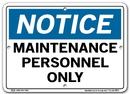 Vestil SI-N-44-A-AL-063 sign-notice -44 10.5x7.5 aluminum .063