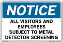Vestil SI-N-60-D-AL-040 sign-notice-60 18.5x12.5 aluminum .040