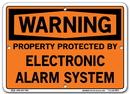 Vestil SI-W-12-A-AL-040 sign-warning-12 10.5x7.5 aluminum .040