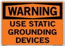 Vestil SI-W-20-E-AL-040 sign-warning-20 20.5x14.5 aluminum .040