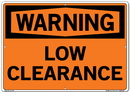 Vestil SI-W-56-E-AL-080 sign-warning-56 20.5x14.5 aluminum .080