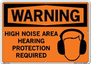 Vestil SI-W-57-E-AL-040 sign-warning-57 20.5x14.5 aluminum .040