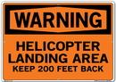 Vestil SI-W-58-E-AL-040 sign-warning-58 20.5x14.5 aluminum .040