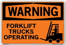 Vestil SI-W-61-D-AL-040 sign-warning-61 18.5x12.5 aluminum .040