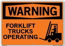 Vestil SI-W-61-E-AL-040 sign-warning-61 20.5x14.5 aluminum .040