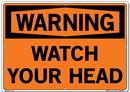 Vestil SI-W-62-E-AL-040 sign-warning-62 20.5x14.5 aluminum .040