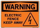 Vestil SI-W-64-E-AL-040 sign-warning-64 20.5x14.5 aluminum .040