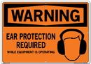 Vestil SI-W-65-E-AL-040 sign-warning-65 20.5x14.5 aluminum .040