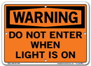 Vestil SI-W-69-A-AC-130 sign-warning-69 10.5x7.5 alum comp .130