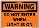 Vestil SI-W-69-E-AL-080 sign-warning-69 20.5x14.5 aluminum .080