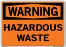 Vestil SI-W-70-E-AL-040 sign-warning-70 20.5x14.5 aluminum .040
