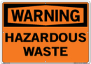 Vestil SI-W-70-E-AL-080 sign-warning-70 20.5x14.5 aluminum .080