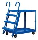 Vestil SPS2-2848-6MR stock picker 2 shelf 28 x48 rubber/steel