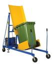 Vestil TCD-M-48-DC dc power trash can dumper 400lb 74 in