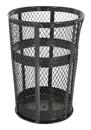 Vestil TR-MXR-48-BK trash receptical exp metal round 48 gallon-black