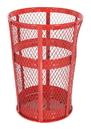 Vestil TR-MXR-48-RD trash receptical exp metal round 48 gallon-red