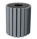 Vestil TR-PR-33-CH trash receptical poly round 33 gal-char