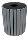 Vestil TR-PR-49-CH trash receptical poly round 49 gal-char