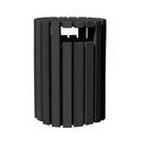 Vestil TR-PRRC-33-BK trash receptical poly rain cap round 33 gal-black