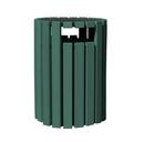 Vestil TR-PRRC-33-GN trash receptical poly rain cap round 33 gal-green