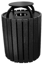 Vestil TR-PRRC-49-BK trash receptical poly rain cap round 49 gal-black
