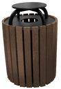 Vestil TR-PRRC-49-BN trash receptical poly rain cap round 49 gal-brown