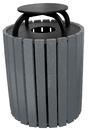 Vestil TR-PRRC-49-CH trash receptical poly rain cap round 49 gal-char