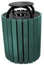 Vestil TR-PRRC-49-GN trash receptical poly rain cap round 49 gal-green