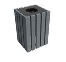 Vestil TR-PSQ-22-BK-CH trash receptical poly square 22 gallon-char