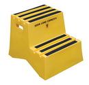 Vestil VST-2-Y polyethylene step stool yellow 2 step