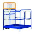 Vestil WP-4848-DD steel work platform w/2 door entry 48x48